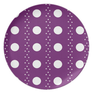 Grape Polkadot Stripes Plates