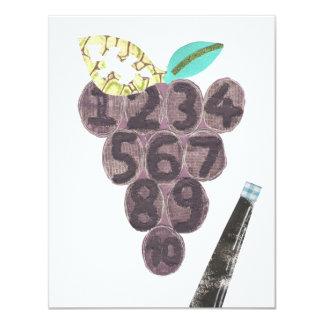 Grape Pool Invitation