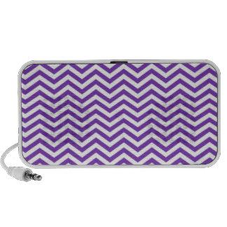 Grape Purple Chevron Stripes iPod Speaker