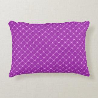 Grape, Purple Criss-Cross Pattern Accent Pillow