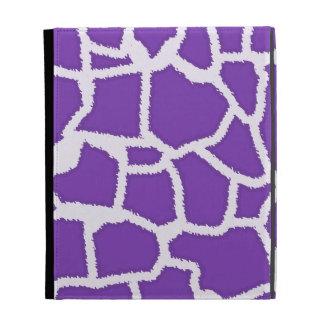 Grape Purple Giraffe Animal Print iPad Cases
