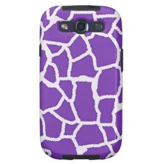 Grape Purple Giraffe Animal Print Galaxy SIII Case