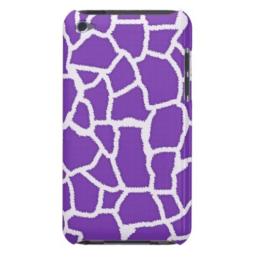Grape Purple Giraffe Animal Print Barely There iPod Cover