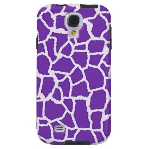 Grape Purple Giraffe Animal Print Galaxy S4 Case