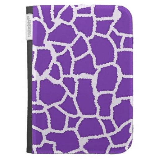 Grape Purple Giraffe Animal Print Kindle 3G Case