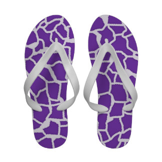 Grape Purple Giraffe Animal Print Flip-Flops