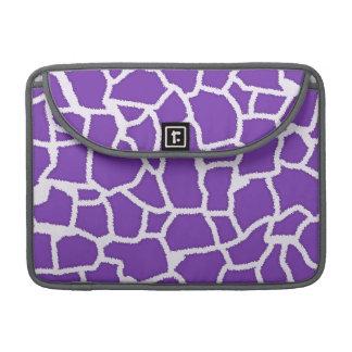 Grape Purple Giraffe Animal Print Sleeves For MacBook Pro