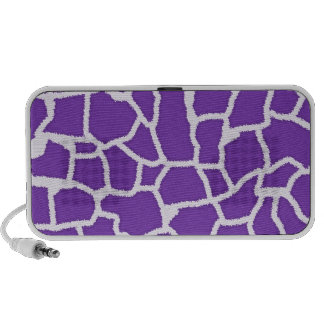 Grape Purple Giraffe Animal Print Portable Speaker