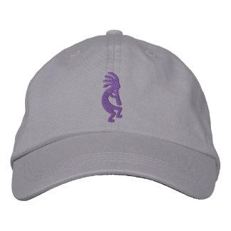 Grape Purple Kokopelli Grey Embroidered Hats