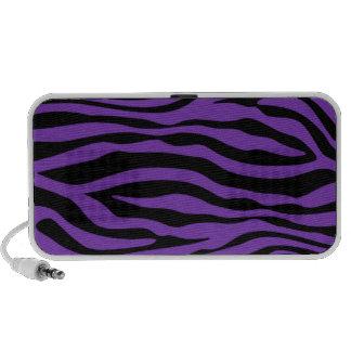 Grape Purple Zebra Stripes Animal Print Travelling Speakers