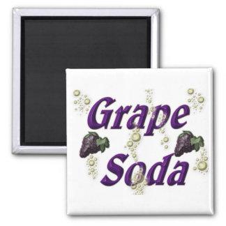 Grape Soda Square Magnet