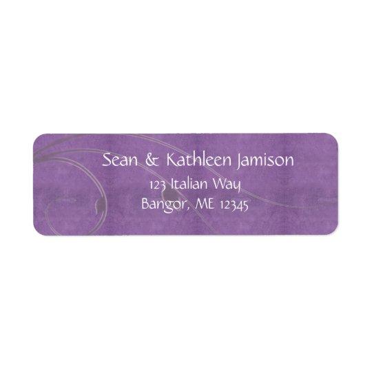 Grape swirl address labels