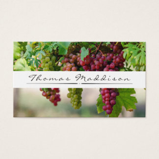 Grape Vine Vineyard Winery Business Card