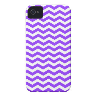 Grape Violet Blue And White Zigzag Chevron Pattern iPhone 4 Cases