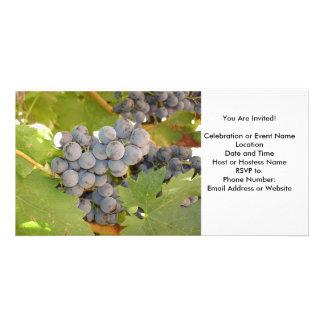 Grape, Wine Celebration Invitation Custom Photo Card