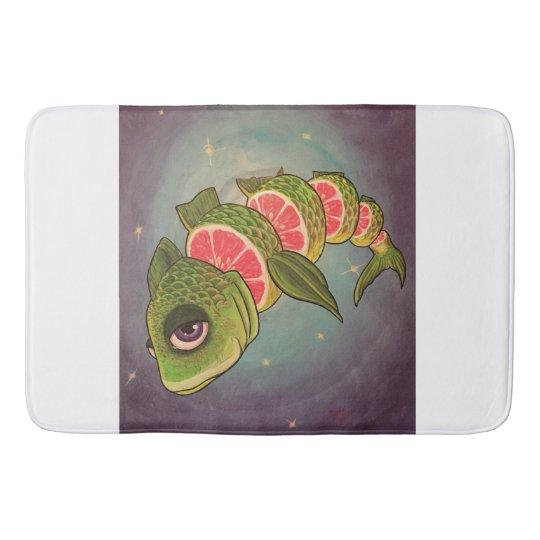Grapefruit Fish Bath Mat