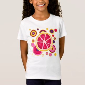 Grapefruit Slice Circles Design T-Shirt
