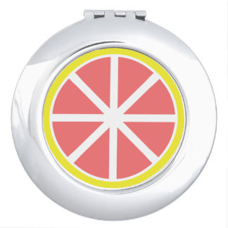 Grapefruit Slice Compact Mirror