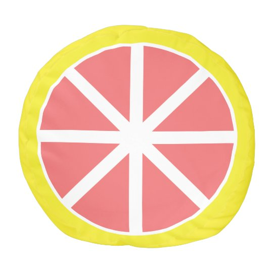 Grapefruit Slice Pouf