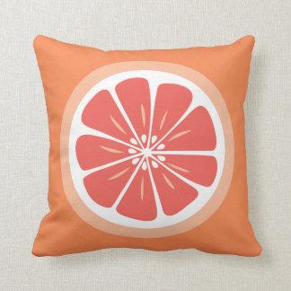 Grapefruit Slice Summer Fun Throw Pillow