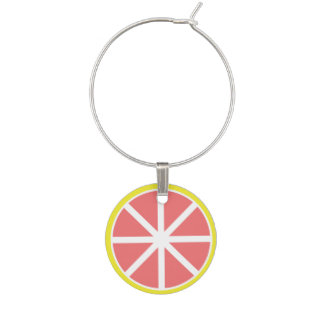 Grapefruit Slice Wine Charm