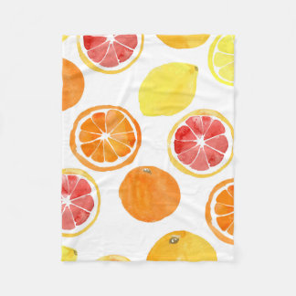 Grapefruits and Lemons Fleece Blanket