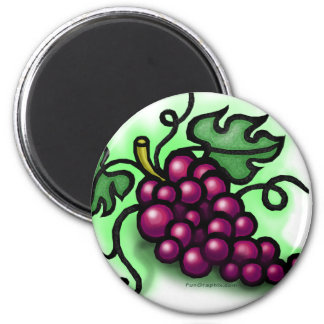 Grapes 2 Inch Round Magnet