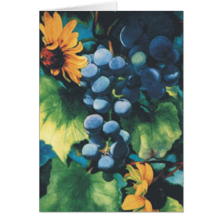 Grapes and Black-Eyed Susans Card