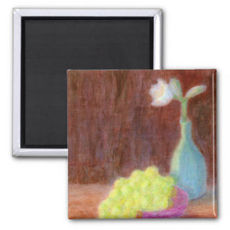 Grapes and Flower Still Life, Magnet