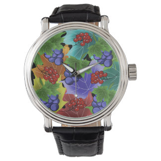 grapes and leaves watch