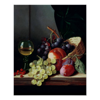 Grapes and plums poster