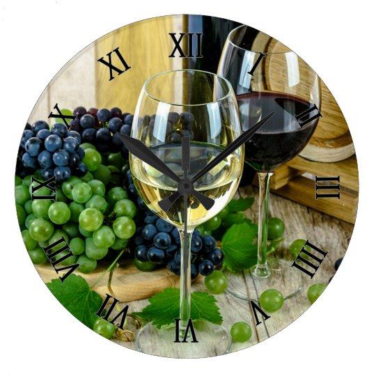 Grapes and Wine Wall Clocks