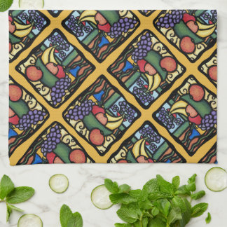 Grapes Apple Bananas Oranges Mixed Fruit Pattern Kitchen Towel