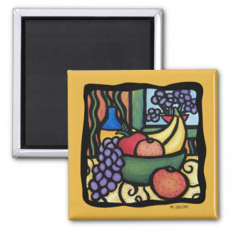 Grapes Apple Oranges Bananas Colorful Mixed Fruit Magnet
