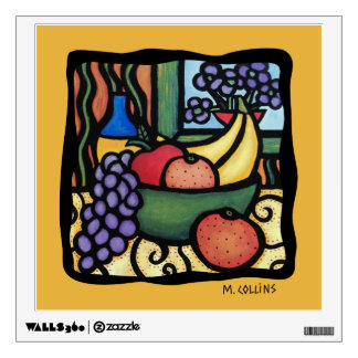 Grapes Apple Oranges Bananas Fruit Kitchen Wall Wall Sticker