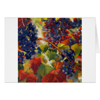 Grapes Art Card