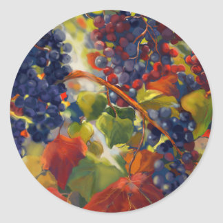 Grapes Art Classic Round Sticker