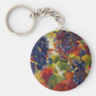 Grapes Art Keychain