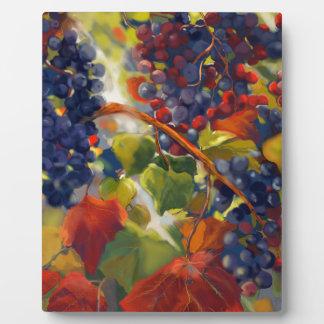 Grapes Art Plaque