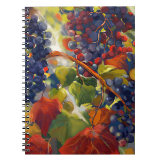 Grapes Art Spiral Notebook