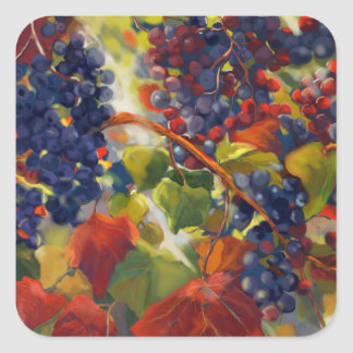 Grapes Art Square Sticker