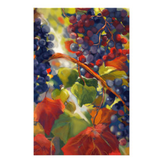 Grapes Art Stationery