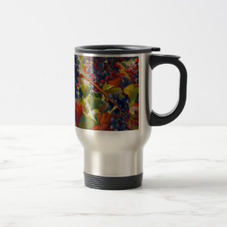 Grapes Art Travel Mug