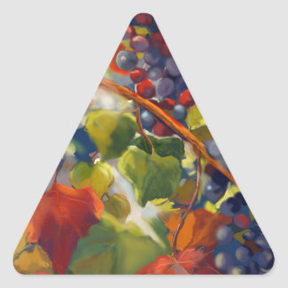 Grapes Art Triangle Sticker