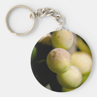 Grapes Basic Round Button Keychain