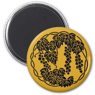 Grapes circle 2 inch round magnet