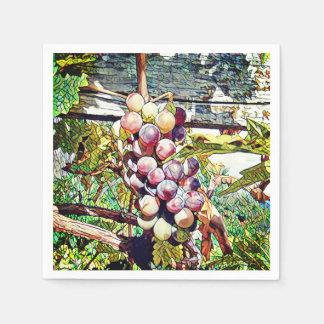 Grapes. Disposable Napkins