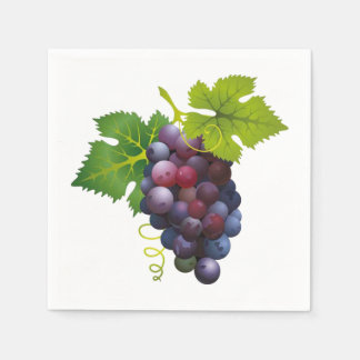 Grapes Disposable Napkins