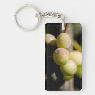 Grapes Double-Sided Rectangular Acrylic Keychain