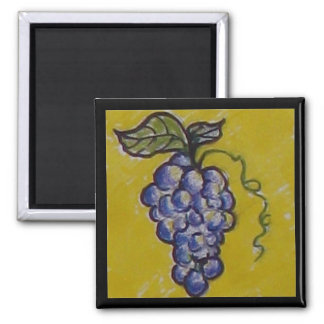 Grapes for the Picking! Square Magnet